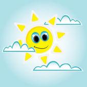 Vector sunny blue sky background — Stock Vector