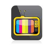 Vector tv icon. online tv symbol. app icon — Stock Vector