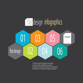 Modern flat design infographics — Stock Vector
