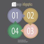 Moderne platte ontwerp infographics — Stockvector