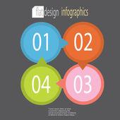 Moderno diseño plano infografía — Vector de stock