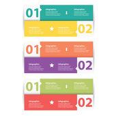 Modern flat design infographics — Vecteur