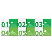 Green Modern flat design infographics — Stock Vector