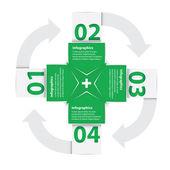 Green Modern flat design infographics — 图库矢量图片
