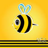 Cartoon cute bright baby bee. vector illustration. — Stock Vector