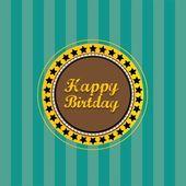 Illustration vectorielle de Vintage joyeux anniversaire carte — Vecteur