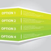Green vector Paper Progress background banner — Stock Vector