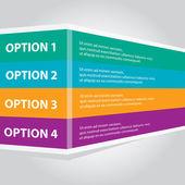 Color vector Paper Progress background banner — Stock Vector