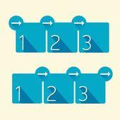 Blue Modern trendy flat Design banner — Stock Vector