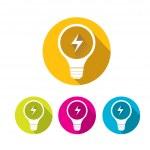 Vector flat Light bulb idea icon collection — Stock Vector