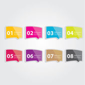 Color Modern Design glossy banners template — Stock Vector