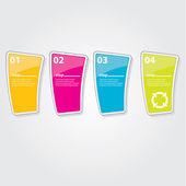 Modello di colore design moderno lucido banner — Vettoriale Stock