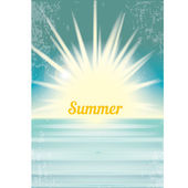 Abstract summer paradise beach background . — Vecteur