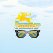 Abstract summer  background . — Cтоковый вектор