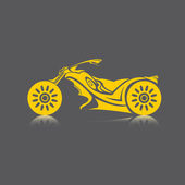 Vector Silhouette of classic motorcycle. moto icon — Vector de stock