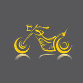 Vector Silhouette of classic motorcycle. moto icon — Vettoriale Stock