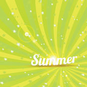 Abstract summer vector rays background — Stock Vector