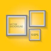 Vector modern black frame on orange wall — Stock Vector