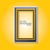 Vector modern black frame on orange wall — 图库矢量图片