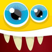 Vector Cartoon orange monster face — Stock Vector