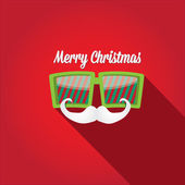 Merry Christmas hipster poster for greeting card. — Stock Vector