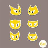 Set di gatti carino fumetto vettoriale — Vettoriale Stock