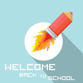 Okula geri vektör kavramı — Stok Vektör