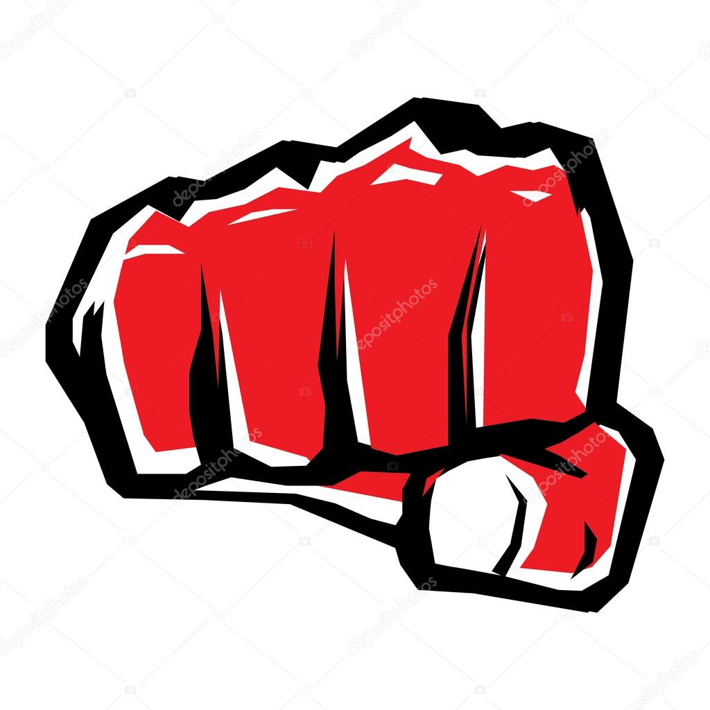 Freedom Concept Vector Red Fist Icon Stock Vector