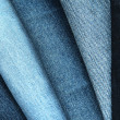 Five Denim, Jeans textures of different colours - Stock Photo