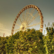 Ferris Wheel in Jardin de Tuilries, Paris, on a sunny day. HDR. — Stock Photo