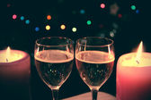 Vine and candles — Stock Photo