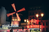 The Moulin Rouge by night — Stock Photo