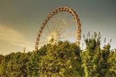 Ferris Wheel in Jardin de Tuilries, Paris, on a sunny day. HDR. — Stock Photo