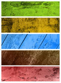 A set of grunge banners — Stock Photo