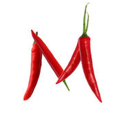 Red hot chili pepper font — Stock Photo