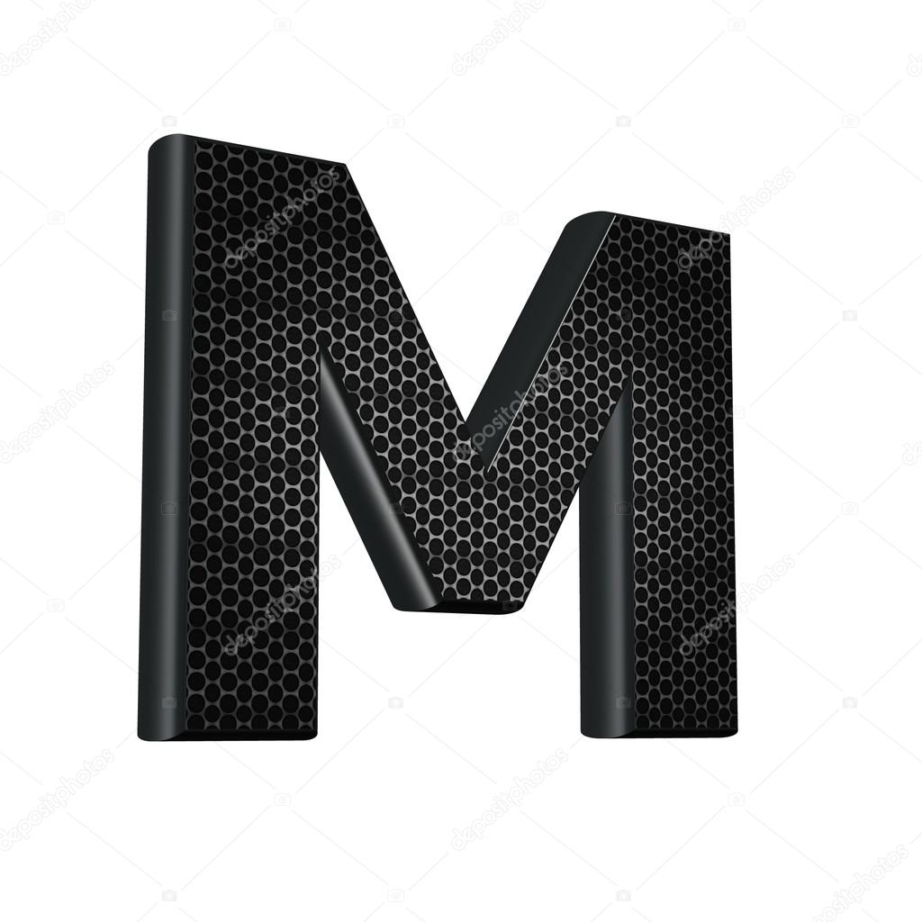 3D font with abstract carbon texture — Stock Photo #12214662