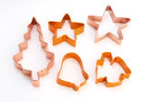 Christmas cookie cutters — 图库照片