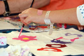 Child painting in paediatrics — Stock Photo