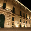The Palace, Valletta, Malta at night. — Stock Photo