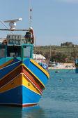 Typical Maltese fishing boat — Stock Photo