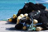 Sieci rybackie i boje — Zdjęcie stockowe