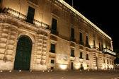The Palace, Valletta, Malta at night. — Stock Photo