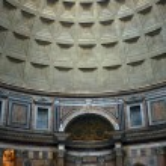 Interior of the Patheon in Rome — Stock Photo