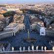 Stock Photo: Arial view of the Vatican City