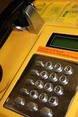 Yellow telephone — Stock Photo