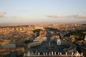 Arial View of Vatican City and Rome — Stock Photo