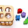 Baby puzzle blocks — Stock Photo