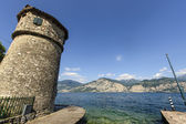 Garda lake at Malcesine — Stock Photo