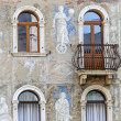 Cathedral  square of Trento, house — Stock Photo