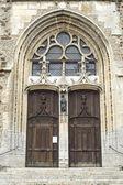 Illiers-Combray (Eure-et-Loir, Centre, France) - Portal of ancient church — Stock Photo